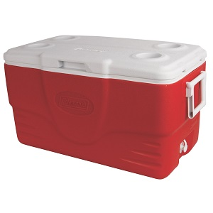 Coleman 50 Qt. Ice Chest with Holder (Red)