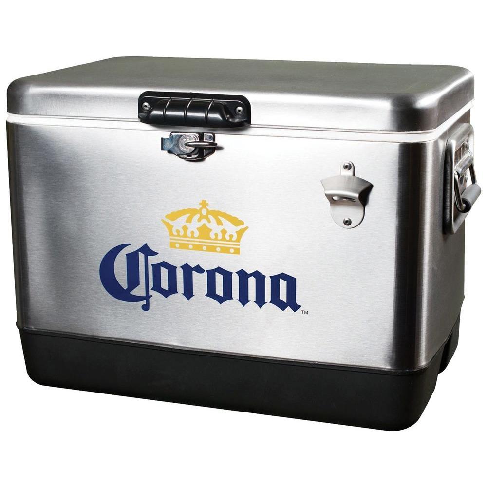 Koolatron 54 Qt. Stainless Steel Corona Ice Chest Cooler