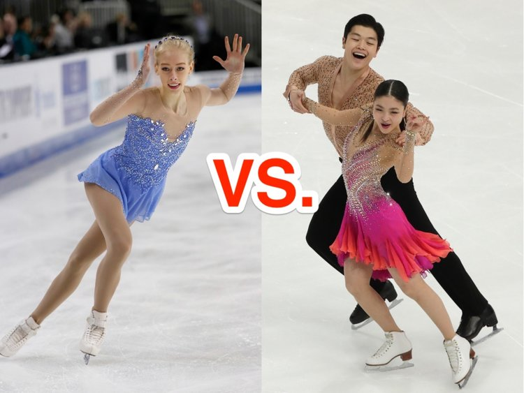 difference between figure skating and ice dancing