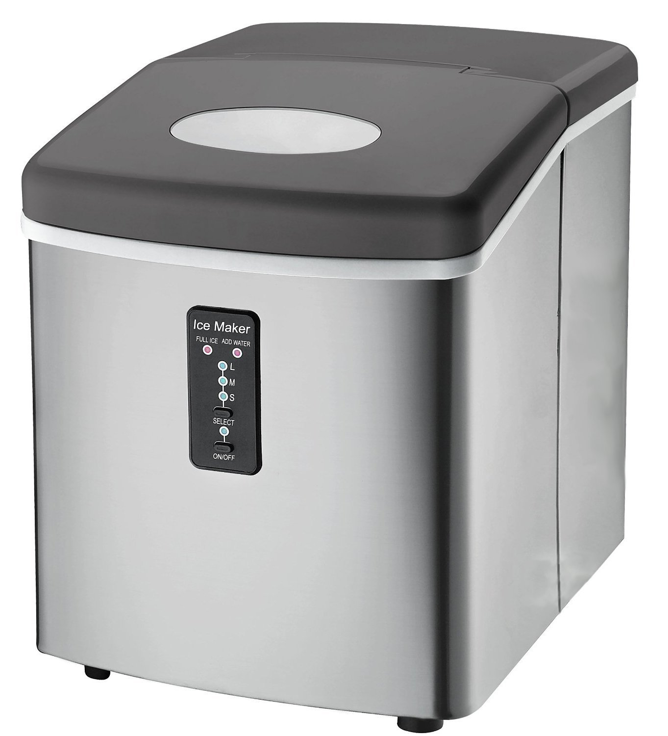Traveller Location: Ice Machine - Portable, Counter Top Ice Maker Machine TG22 -  Produces 26 lbs Of Ice Per 24 Hours - Stainless Steel - Top Rated Ice Maker  For