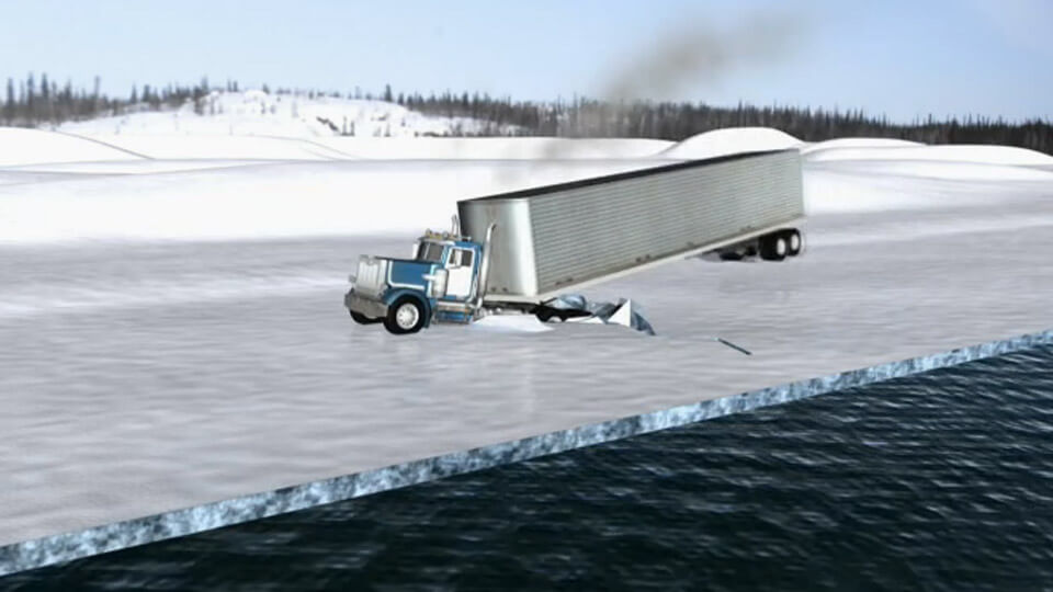 Ice Road Truckers - Dangers of Going Fast ⋆ Ice Road Truckers ⋆ A&E on  Foxtel