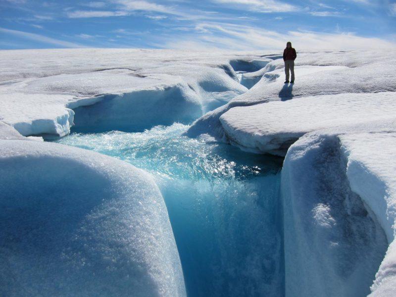 Barnes ice cap. Image via University of Colorado.