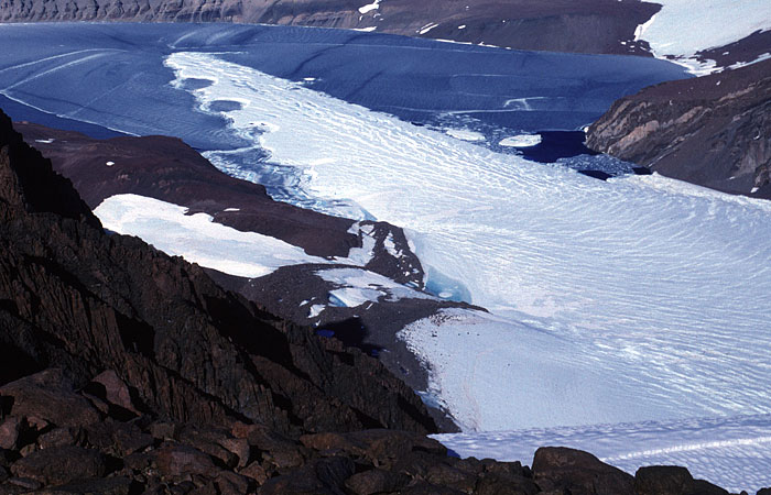 Glacier tongue of Battye Glacier, floating on Radok Lake, Amery Oasis, East  Antarctica. Photo M. J. Hambrey, 1994.
