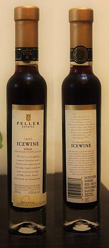 Vidal ice wine by Peller Estates (Canada)