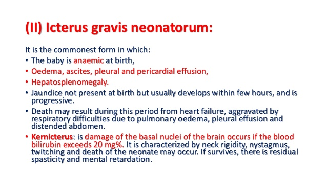 11. (II) Icterus gravis