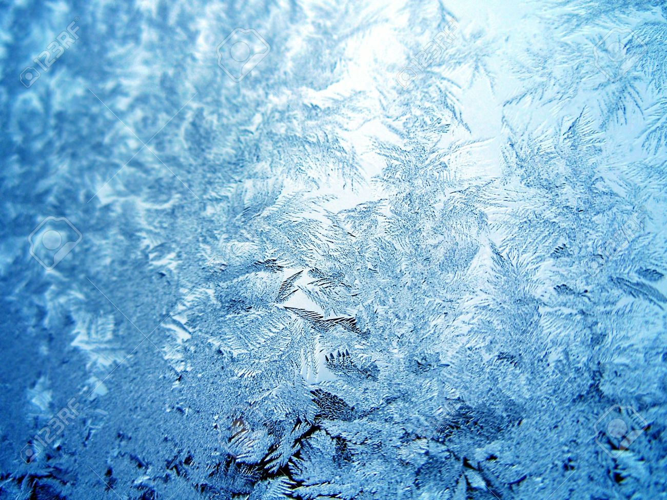 Icy pattern on window Stock Photo - 779023