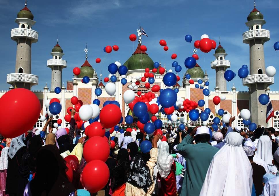 Muslims celebrating Eid