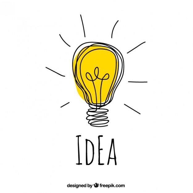 Hand drawn idea concept