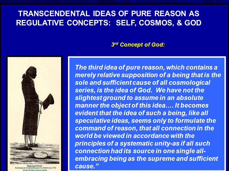 TRANSCENDENTAL IDEAS OF PURE REASON AS REGULATIVE CONCEPTS: SELF, COSMOS, &  GOD