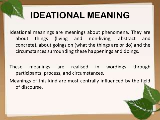 IDEATIONAL
