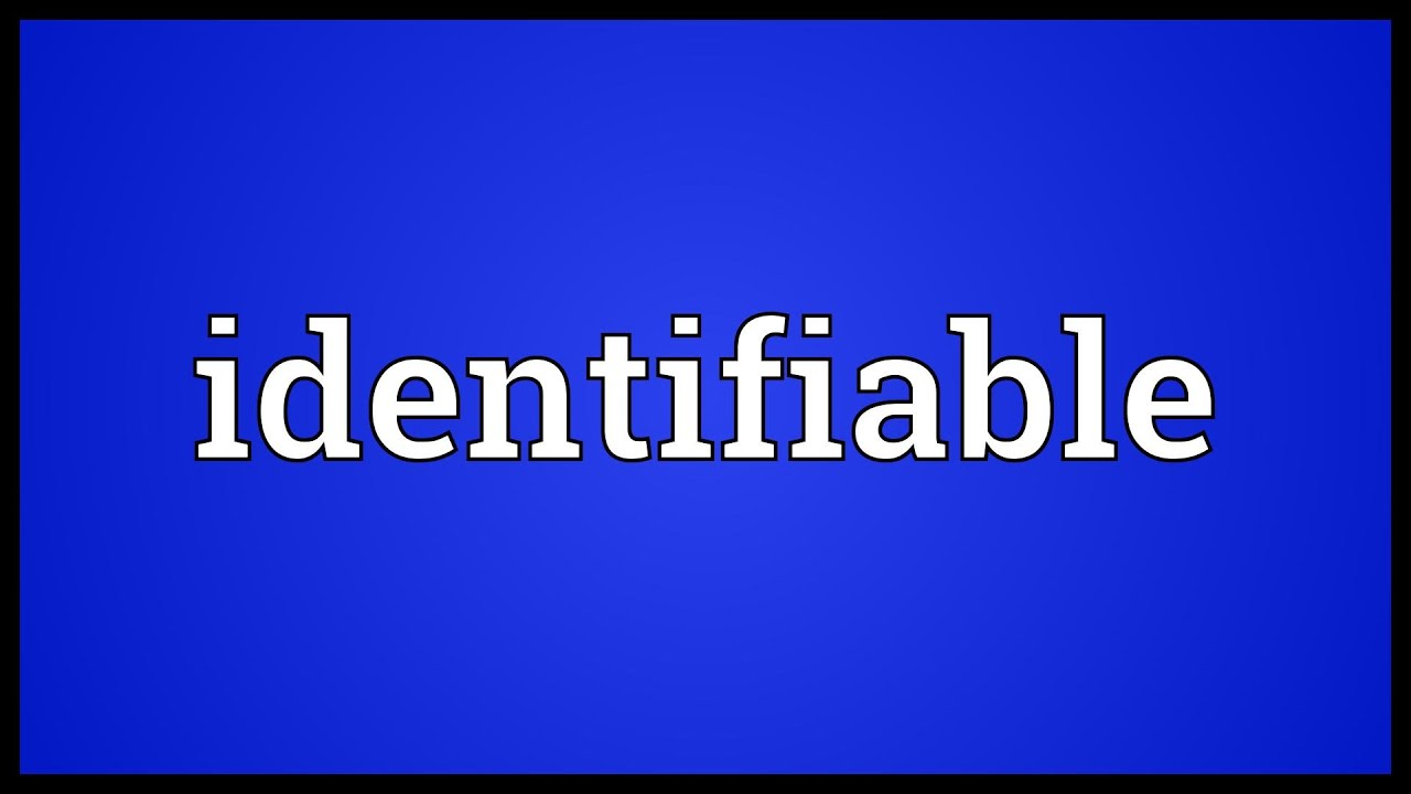 Identifiable Meaning