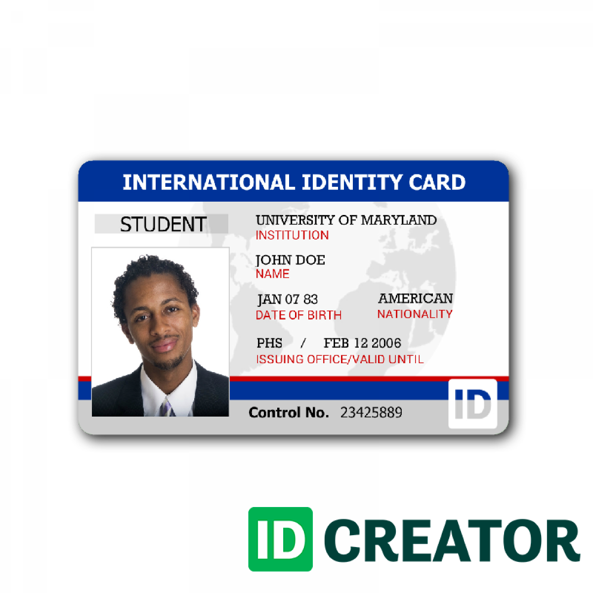Front of ID Card - Identity Card %236