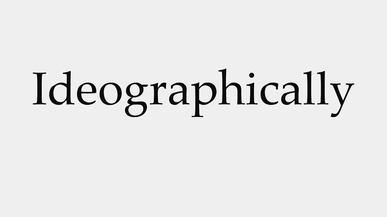 How to Pronounce Ideographically