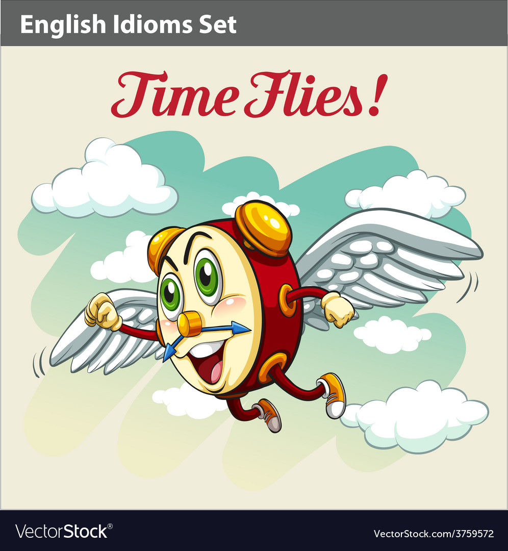 An English Idiom vector image