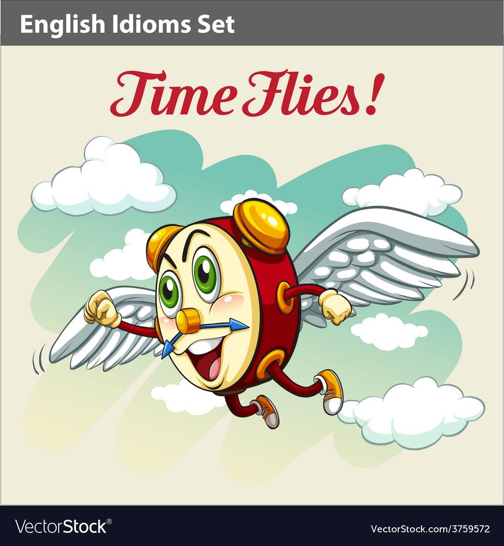 An English Idiom vector image