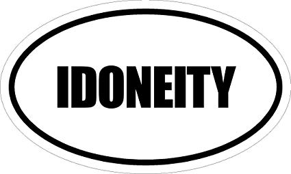 """Any and All Graphics IDONEITY 6"""" Printed White Vinyl Oval Euro Style  Decal Sticker"""