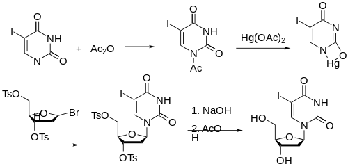 Idoxuridine synthesis: FR 1336866 GB 1024156
