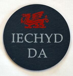 Image is loading Single-Welsh-Slate-Coaster-034-IECHYD-DA-034-