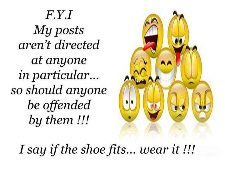 if the shoe fits wear it | If the shoe fits, wear it!
