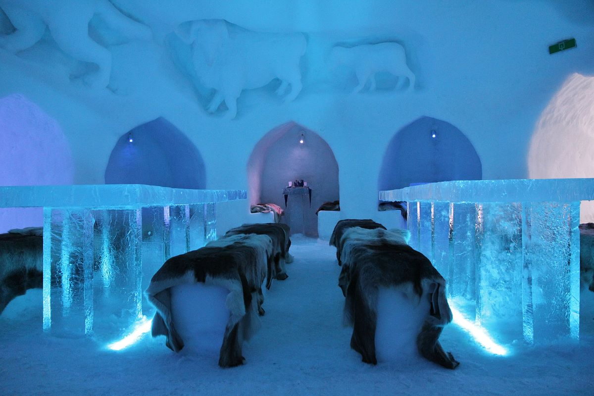 their intentions and the skills required for carving of the  ice-sculptures and shedding light on all aspects of the igloo village.