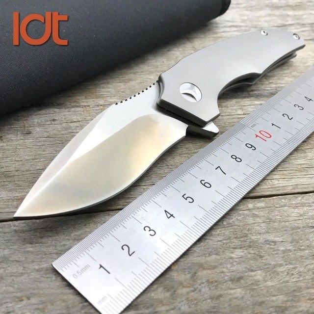 LDT titanio ikbs cuchillo plegable VG10 m390 cuchilla cerámica rodamientos  Tactical Cuchillos supervivencia al aire libre