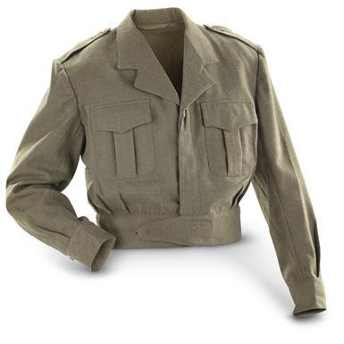 Belgian Military U.S.- Style Wool Ike Jacket,2 Pack, Used