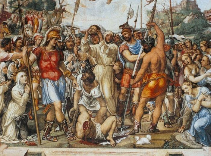 Il Sodoma, Execution Nicolo di Tuldo, St. Catherine Chapel, San Domenico,  Siena