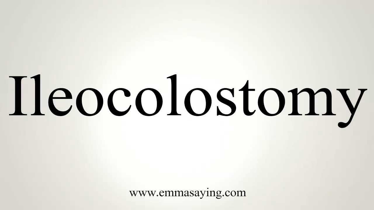 ileocolostomy