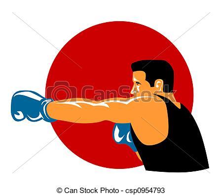 Boxer jabbing - csp0954793