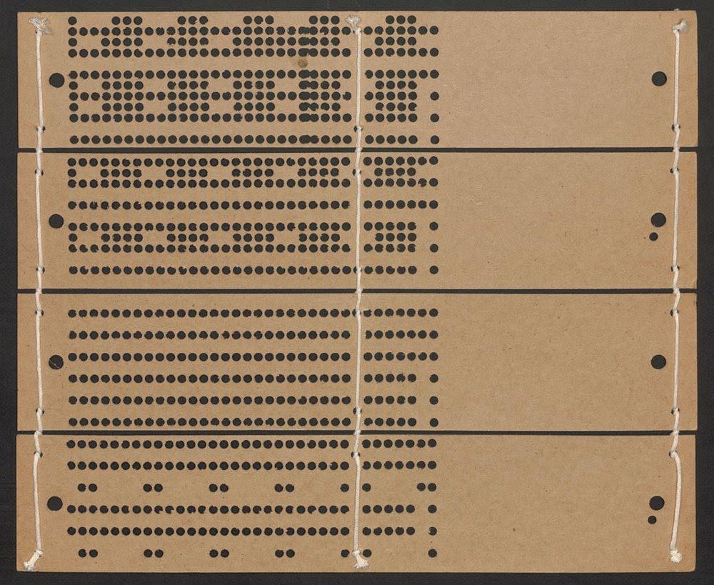 Jacquard Loom Cards