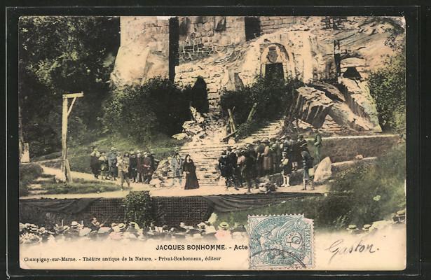 AK Champigny-sur-Marne, Théâtre antique de la Nature, Jacques Bonhomme