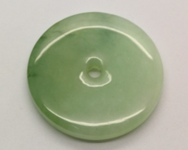 42.41Ct Genuine Burmese Jadeite Jade (Type A) Green Donut Pendant