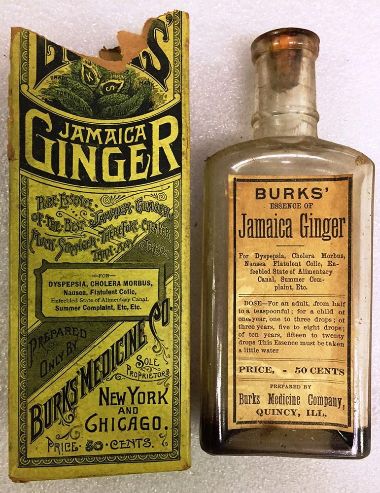 Tagged alcohol, Burkholder Pharmacy, colds, digestive issues, doctor,  formula, ingredient, Jake, Jake Leg, Jamaica Ginger, Jennifer Gleim,  menstrual cramps,