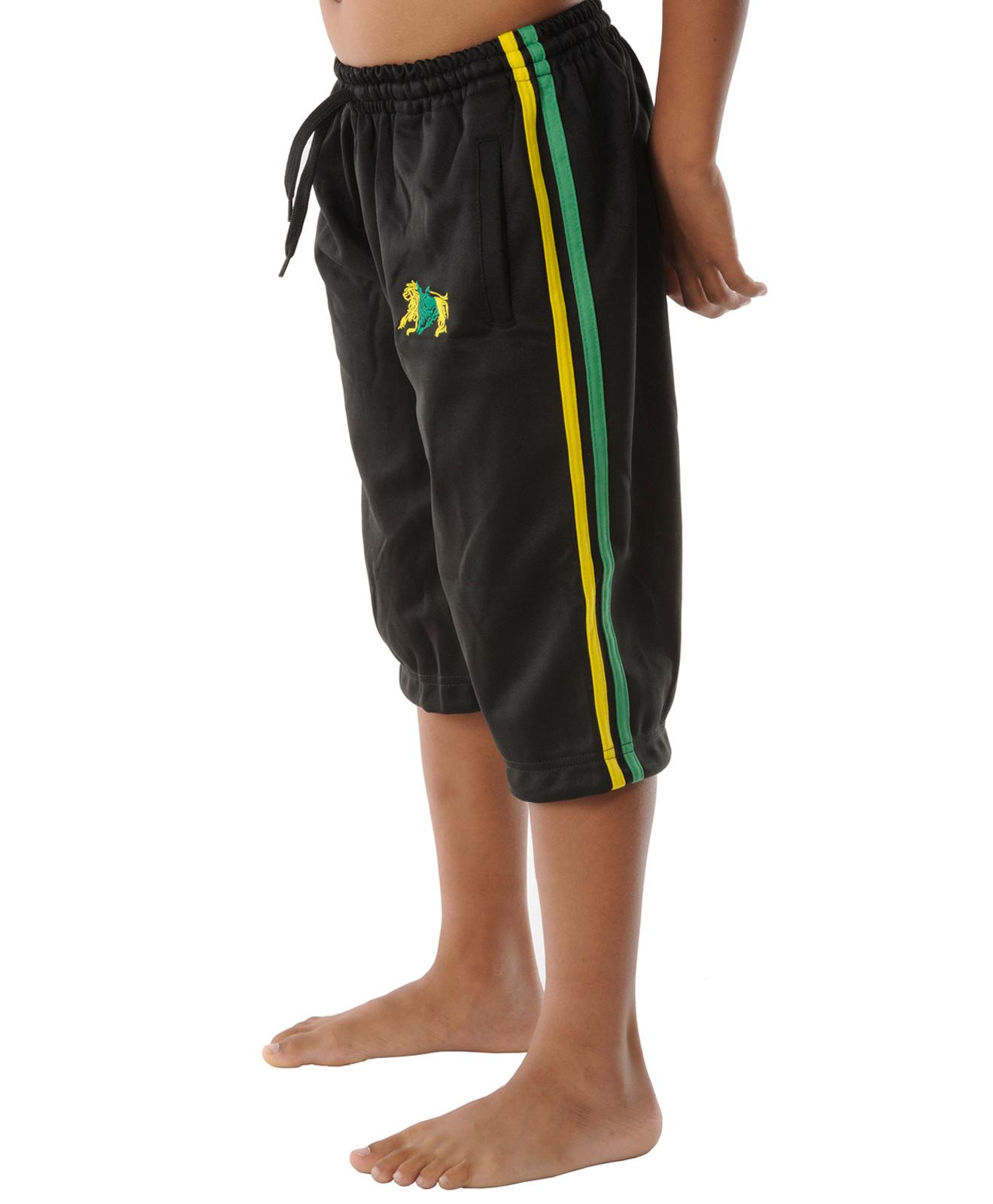 kids jamaica flag shorts