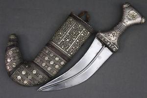 Image is loading Antique-Yemeni-jambiya-dagger-kanjar-Yemen-first-half-