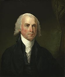 Pintura de James Madison c. 1821, por Gilbert Stuart