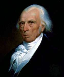 James Madison, detail of an oil painting by Asher B. Durand, 1833;