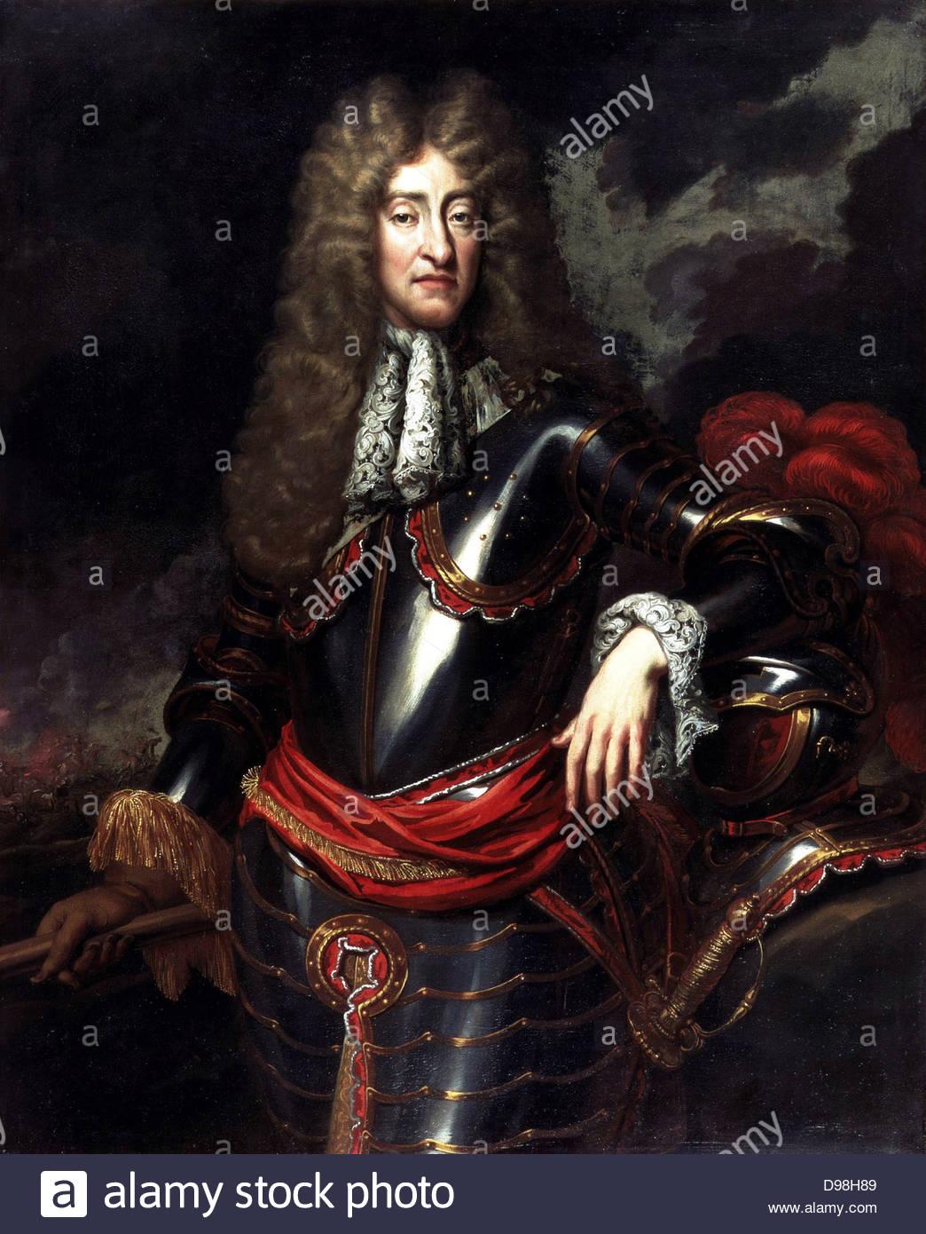 Jaime II y VII (1633 - 1701) Rey de Inglaterra e Irlanda como Jaime