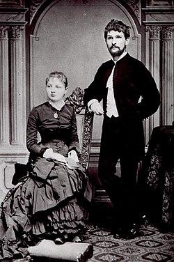 Janáček con su mujer Zdenka en 1881