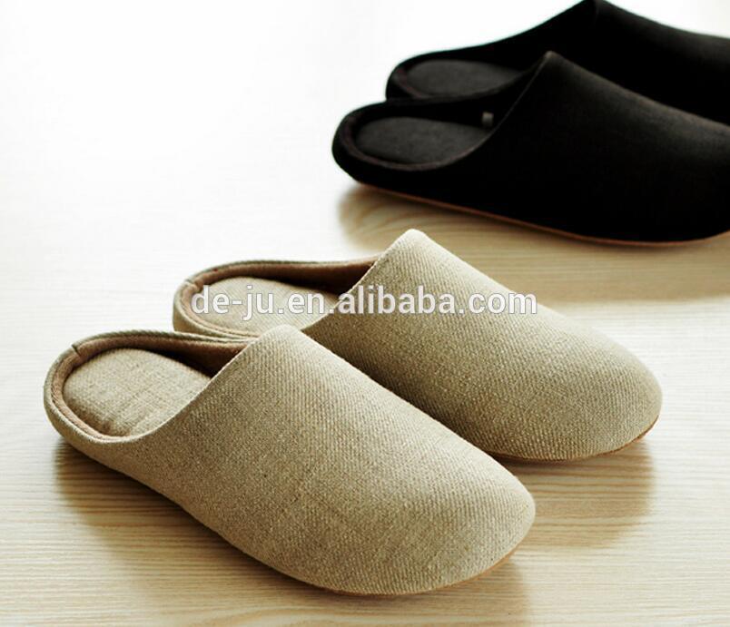 High Grade Plain Linen Japanese Slippers - Buy Japanese Slippers,Japanese  Slippers Men,High End Slippers Product on Traveller Location