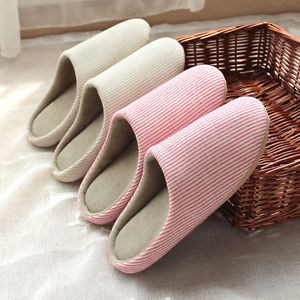 Image is loading Japanese-Silent-Soft-Slippers-Floor-Indoor-Cotton-Anti-