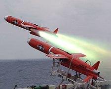 BQM-74E Chukar target drone using JATO