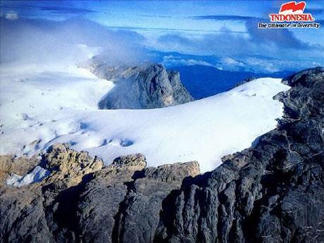 Jayawijaya and Carstenz Peak on Papua, Indonesia