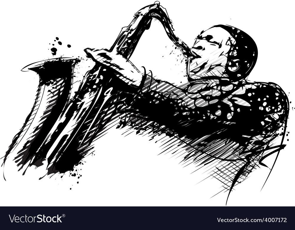 Jazzman vector image