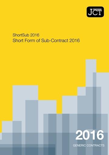Short Form of Sub-Contract (ShortSub)