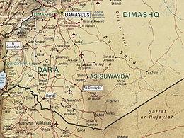 Map of Jabal al-Druze