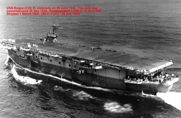 USS Bogue underway