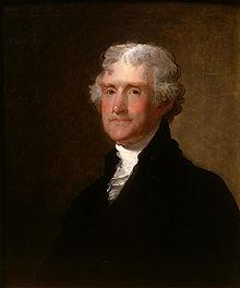 Jefferson por Gilbert Stuart en 1821.