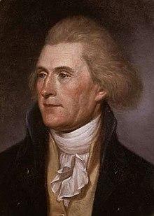 Thomas Jefferson, por Charles Willson Peale en 1791.