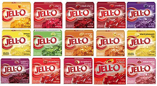 Traveller Location : Jell-O Gelatin Sampler (Pack of 15 Different Flavors 3oz Box)  : Pudding Mixes : Grocery & Gourmet Food